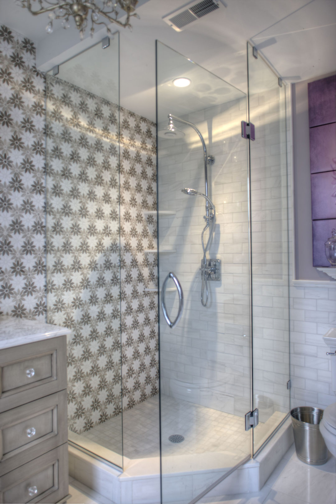 Cape May Showhouse Ensuite Bathoom Shower