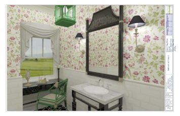 Cape May Showhouse Hall Bath Concept 2