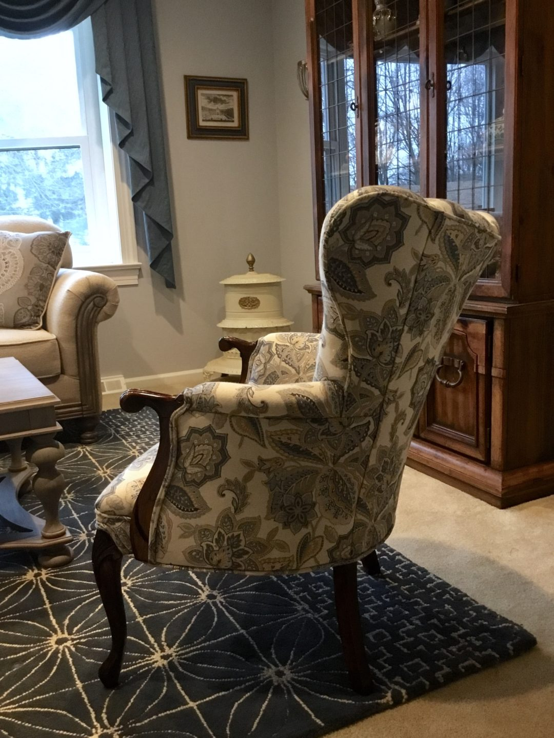 Buttonwood refinished chair - side view