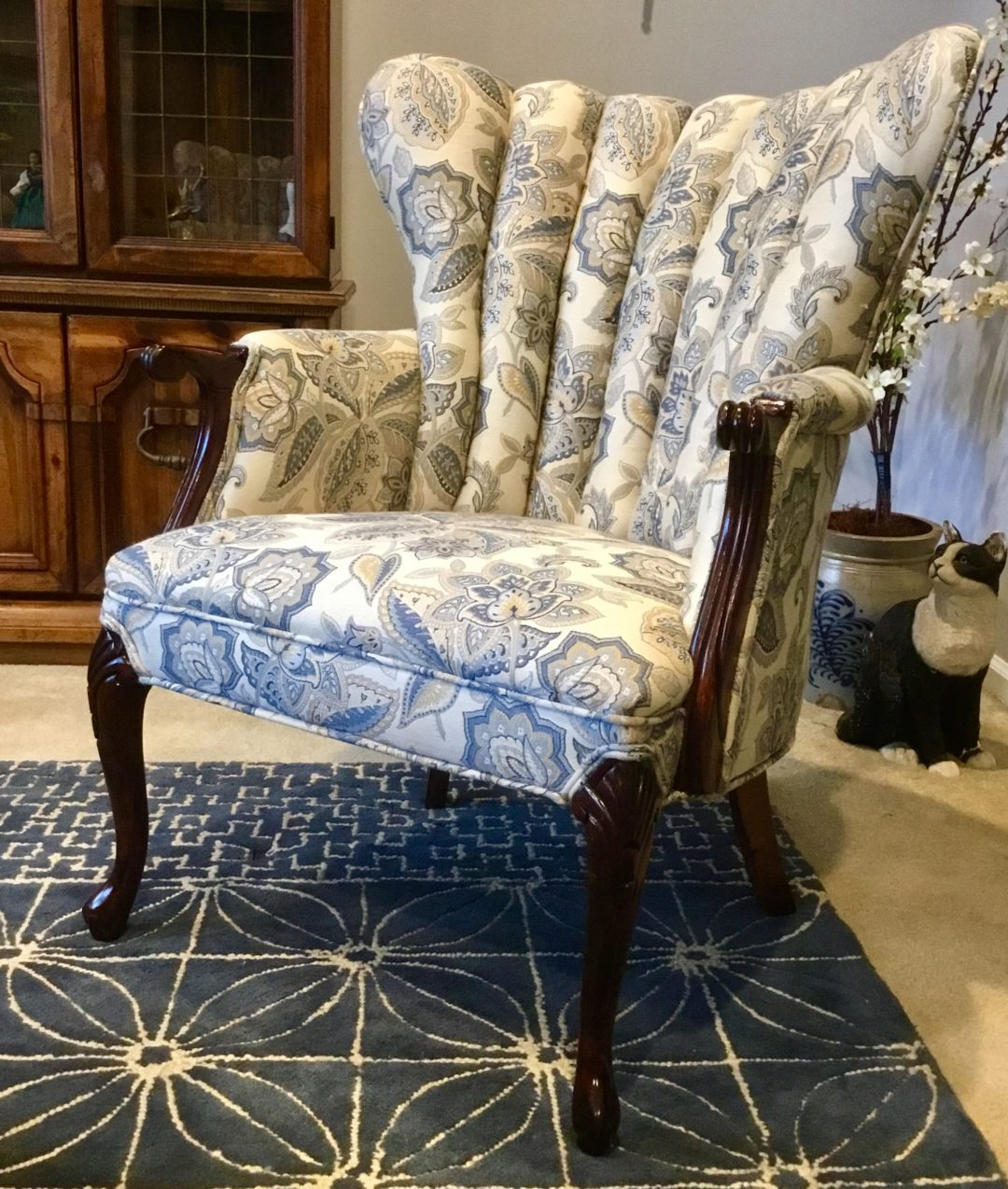 Buttonwood refinished chair