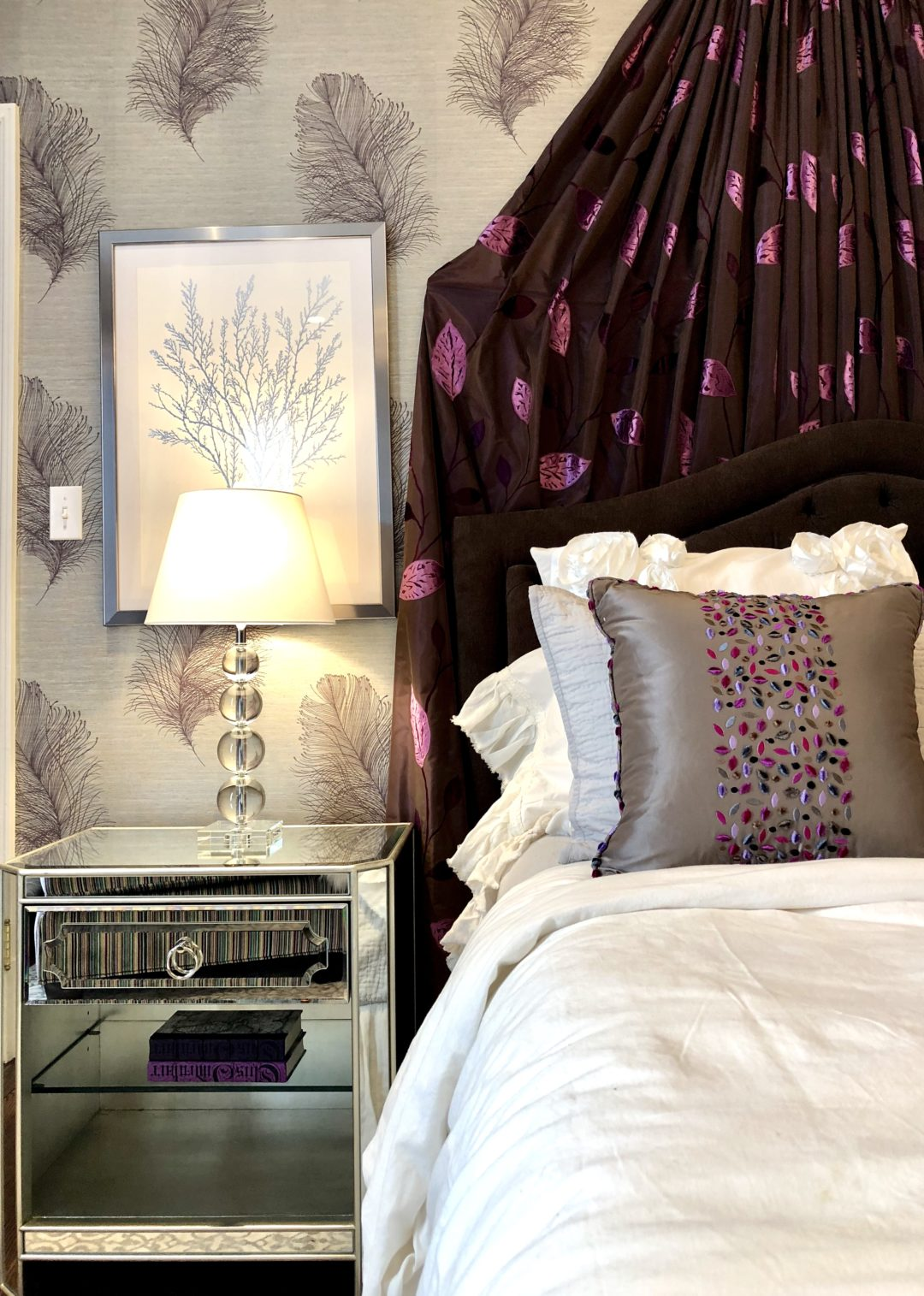 Cape May Showhouse Ensuite Bedroom Nightstand