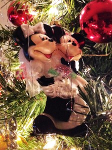 Special ornaments marking memories and special occasions are throughout the tree